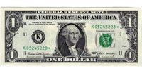 Fr.1906-K* $1 1969 C Dallas STAR GEM CU