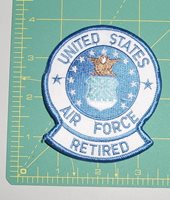 Embroidered Patch - United States Air Force with Logo - Retired