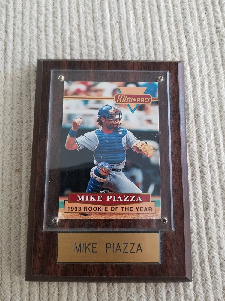 Mike Piazza 1994 Ultra Pro 1993 Rookie Of The Year Card 4 Dodgers Ltd Ed