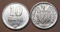 2010 Moldova 10 Bani Coin Very Nice Uncirculated From Mint Bag KM# 7