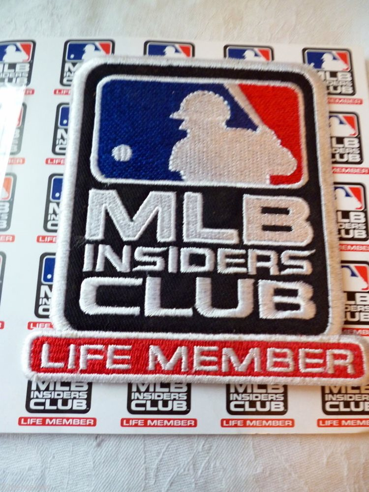 New Mlb Insiders Club Life Member Patch And Hang Tag Ke