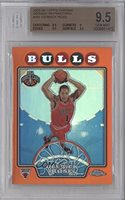 Derrick Rose BGS GRADED 9.5 #192/499 (Basketball Card) 2008-09 Topps Chrome Orange Refractor #181