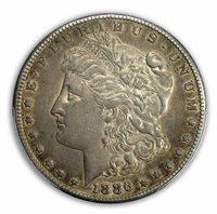 1886-S $1 Morgan Dollar PCGS AU53