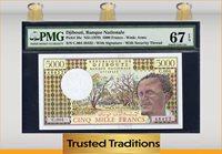 5000 Francs 1979 Djibouti Banque Nationale Pmg 67 Epq Superb Gem