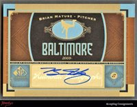 2012 SP Signature Collection Autographed #TB6 Carlos Pena Tampa Bay Rays Auto