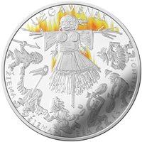 """2019 Lithuania 5 Euro Silver Coin dedicatedto """"Užgavėnės"""""""