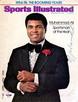 Muhammad Ali Autographed Sports Illustrated Magazine Cover PSA/DNA #S00409Muhammad Ali Autographed Sports Illustrated Magazine Cover PSA/DNA #S00409