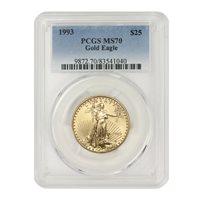 1993 $25 Gold Eagle PCGS MS70