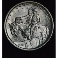 50c Cent 1/2 Half Dollar 1925 Stone Mountain MS64 frosty white gem