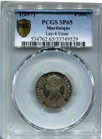 Martinique - 1(897) 50c ESSAI KM#E2 in PCGS SP 65 RRRR