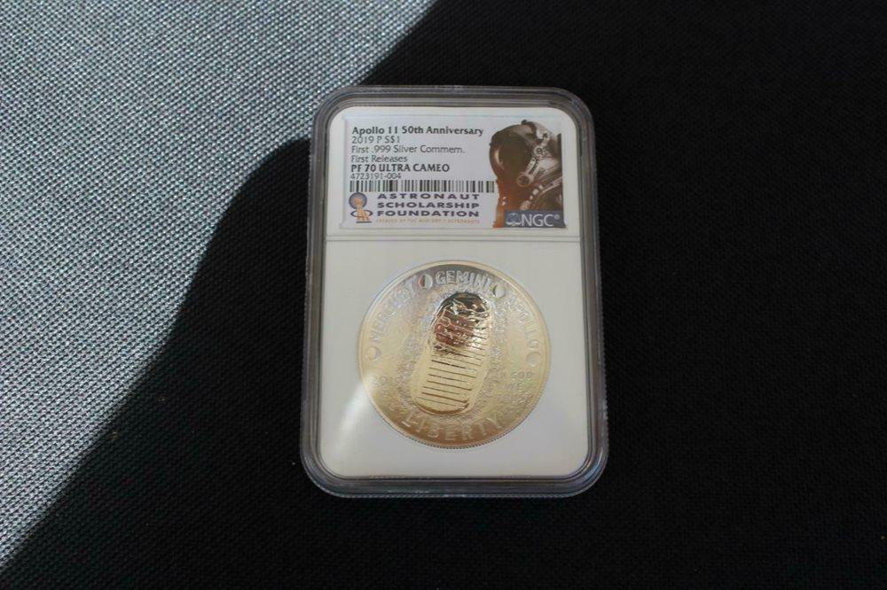 Apollo 11 50th Anniversay Silver Commemorative Dollar 2019-P NGC PF-70 UCAM