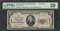 1929 $20 First National Bank Grand Forks North Dakota - PMG Very Fine VF 20 C2C
