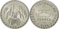 25 Francs 1976 Mali Coin, Aluminum, Km:e4