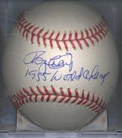 Roger Craig 1955 World Champs Brooklyn Dodgers Autograped Signed OML Baseball COA