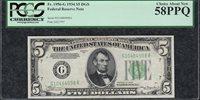 *TOUGH DGS NON-MULE* 1934 Plain $5 Chicago PCGS Almost Uncirculated AU 58PPQ C2C