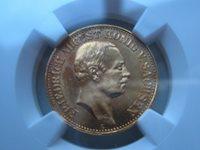 TOP coin ! 10 Mark Sachsen Saxony 1906 GOLD NGC MS64+ #A24