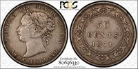 Newfoundland 1874 50c PCGS XF-40 Attractive with nice detail