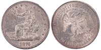 1876-S T$1 T2 / T2 Micro s with Repunched 6 (Breen-5803) Trade Dollar PCGS AU58