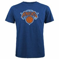 NEW NBA New York Knicks Men's Premium Tri Blend Crew Tee, Royal Blue, Small S