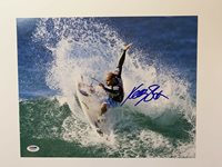 Kelly Slater autographed 11x14 photo surfing champion Professional Sports PSA
