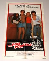 THE POM POM GIRLS 1976 MOVIE POSTER sexploitation CHEERLEADERS Robert Carradine