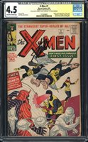 X-MEN 1 CGC 4.5 CONSERVED - 1st App of Magneto, Professor X! SIGNED STAN LEE!