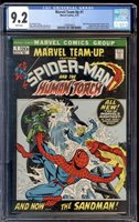 1972 Marvel Team-Up #1 CGC 9.2 The Human Torch Team-up App - book missing.