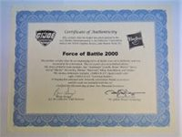 GI JOE 2017 Convention Exclusive BF 2000 - Certificate of Authenticity