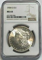 1904-O $1 Morgan Silver Dollar NGC MS 64