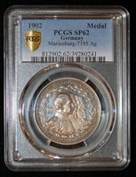 PCGS SP62 1902 Germany Wilhelm Prussia Wurttemberg Bavaria Empire Silver Medal