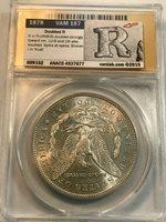 1878 7tf Morgan Dollar Vam 187 Doubled R ANACS Au55 Vss Attribution
