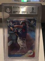 2017 Bowman Platinum Cody Bellinger 1st Rookie Card BGS 9 Mint Dodgers Star