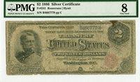 Fr 241 $2 1886 Silver Certificate Rosecrans Hyatt // PMG Very Good 8