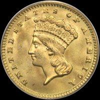 G$1 1889 PCGS MS67