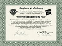GI JOE 2013 Convention Exclusive Night Force Nocturnal Fire Certificate of Authenticity