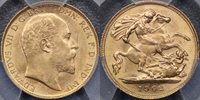 1902 Half Sovereign - PCGS MS63+