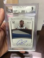 Gorgui Dieng 2013-14 National Treasures Auto Patch RC /99 Rookie RPA BGS 9 10
