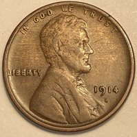 1914-S Lincoln Wheat Cent.