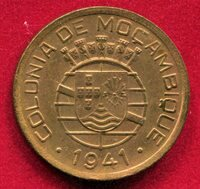 Mozambique - 1941 20 ctvs KM#71 1 Yr Type in Red Unc