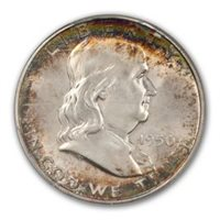 EXTREMELY FINE*  *90/% SILVER*  *FREE SHIPPING* 1949 P Franklin Half Dollar *XF