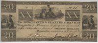 Magnolia, Florida 1832 Merchants & Planters Bank $20