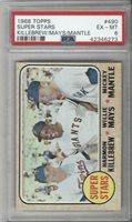 1968 Topps Baseball #490 Mickey Mantle Willie Mays Killebrew PSA 6 graded card