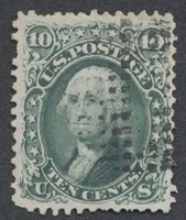 United StatesScott #68 (2019 Scott Value $55.00), Used, Fine 10c Washington with small faults & fine circle of dashes. Skinner NYFM 67-7.Stamp #48316 | Price: $25.00Add To Cart