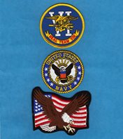 US NAVY USN Seal Team 6 SEALS Sew On Iron On MILITARIA PATCH SET 3 Pcs New