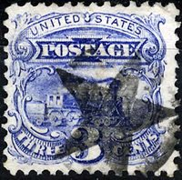 "US Scott Number 114 3¢ 1869. Black ""STAR"" cancel Price $15 USD"