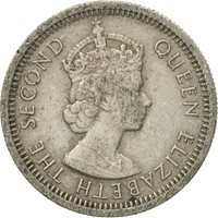 Coin, East Caribbean States, Elizabeth II, 10 Cents, 1955, VF(30-35)