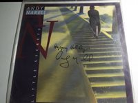 Andy Narell autographed two sided album poster for LP Little Secrets. No vinyl