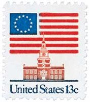 #1622C – 1981 13c Flag over Independence Hall