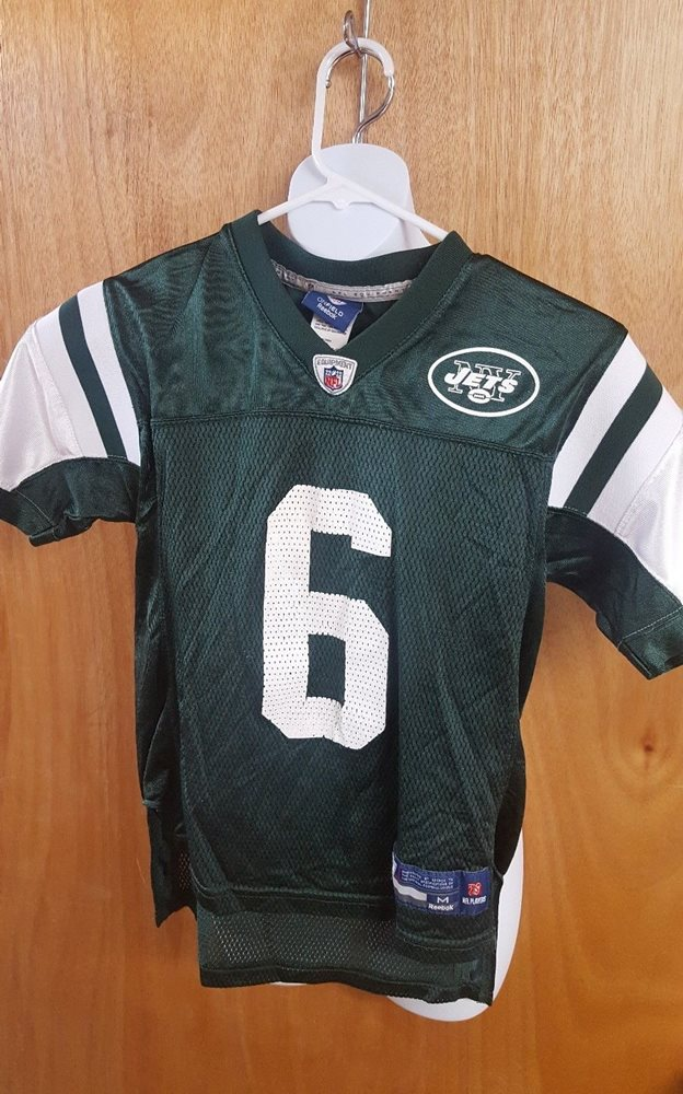 Wholesale NEW YORK JETS home green jersey #6 Youth Medium Mark Sa  free shipping