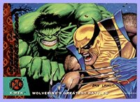 1994 X-Men Ultra #140 Wolverine vs. Hulk